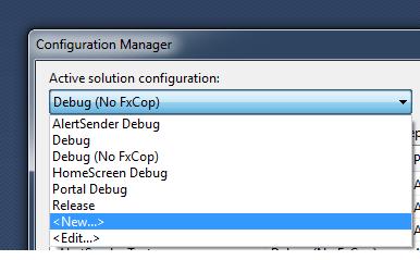Create new build configuration
